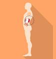 Spleen body location icon flat style