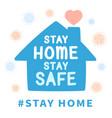 stay home prevent coronavirus outbreak design vector image vector image