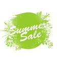 summer sale label watercolor badge with ink vector image