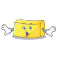 surprised butter mascot cartoon style vector image vector image