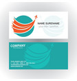 swirl circle plane travel logo business card vector image vector image