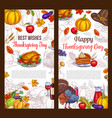 thanksgiving day sketch greeting posters vector image vector image