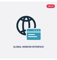 two color global window interface icon from user vector image