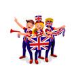 uk flag english people united kingdom day vector image