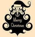 vintage santa claus with a big beard smileshappy vector image vector image