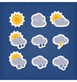 Weather forecast icons vector image vector image