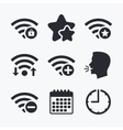 Wifi Wireless Network icons Wi-fi add remove vector image vector image