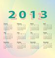 2013 calendar pastel color vector image