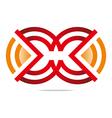 letter m circle symbol design icon vector image