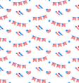 American Patriotic Seamless Pattern US National vector image