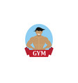 bodybuilding smile logo vector image