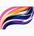 elegant colorful wave stripes vector image