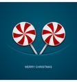 modern christmas candy on blue background vector image