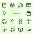14 surprise icons vector image vector image