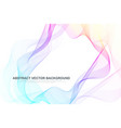abstract colorful wave lines background circular vector image