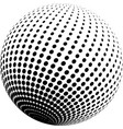 abstract halftone globe design vector image vector image