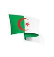 algeria flag on a white vector image vector image