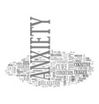 anxiety attacks text word cloud concept vector image vector image