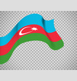 azerbaijan flag on transparent background vector image