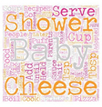 Baby Shower Recipes Food Ideas For Your Shower vector image vector image