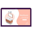 banner washbasin in isometric view vector image