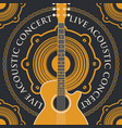 banner with an acoustic loudspeaker and guitar vector image vector image