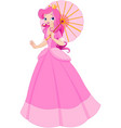 beautiful princess at summer day vector image vector image