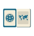 blue passport identification international travel vector image