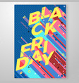 bright black friday memphis style poster vector image