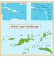 British Virgin Islands map vector image vector image