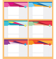 Business Stationary Template vector image vector image