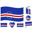 cape verde flag in seven shapes editable and vector image vector image