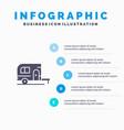 caravan camping camp travel infographics vector image vector image