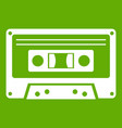 cassette tape icon green vector image vector image