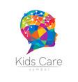child rainbow logotype in silhouette
