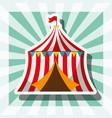 circus tent retro carnival fun fair festival vector image vector image