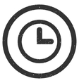 Clock Icon Rubber Stamp vector image vector image
