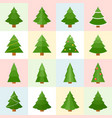 collection of pine icon vector image