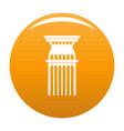 column icon orange vector image vector image