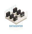 datacenter concept vector image