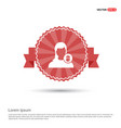 delete user icon - red ribbon banner vector image