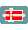 Denmark national flag with icons vector image vector image