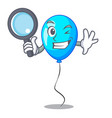 detective blue balloon character on the rope vector image vector image