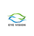 eye vision logo symbol vector image