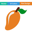 Flat design icon of Mango vector image vector image