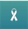 Flat ribbon aids symbol icon vector image vector image