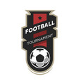 Football tournament soccer logo