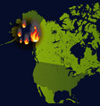 forest fires banner fire place on map disaster vector image vector image