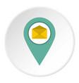 geo tag mail icon circle vector image vector image