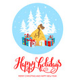 gifts happy holiday vector image vector image
